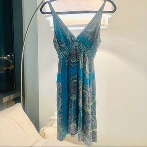 Alice & Trixie Blue Patterned Midi Dress